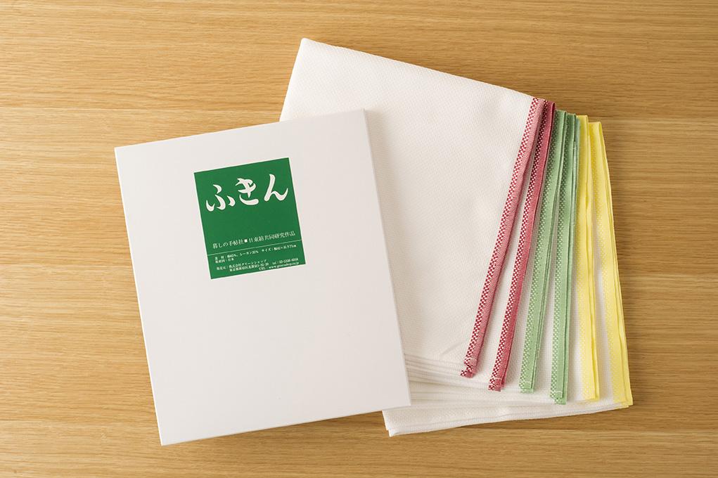 日東紡のふきん 3色 6枚箱入り