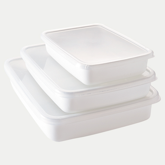 ホワイトシリーズ レクタングル浅型