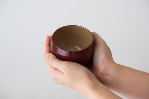 蕾(つぼみ)カップ 洗朱