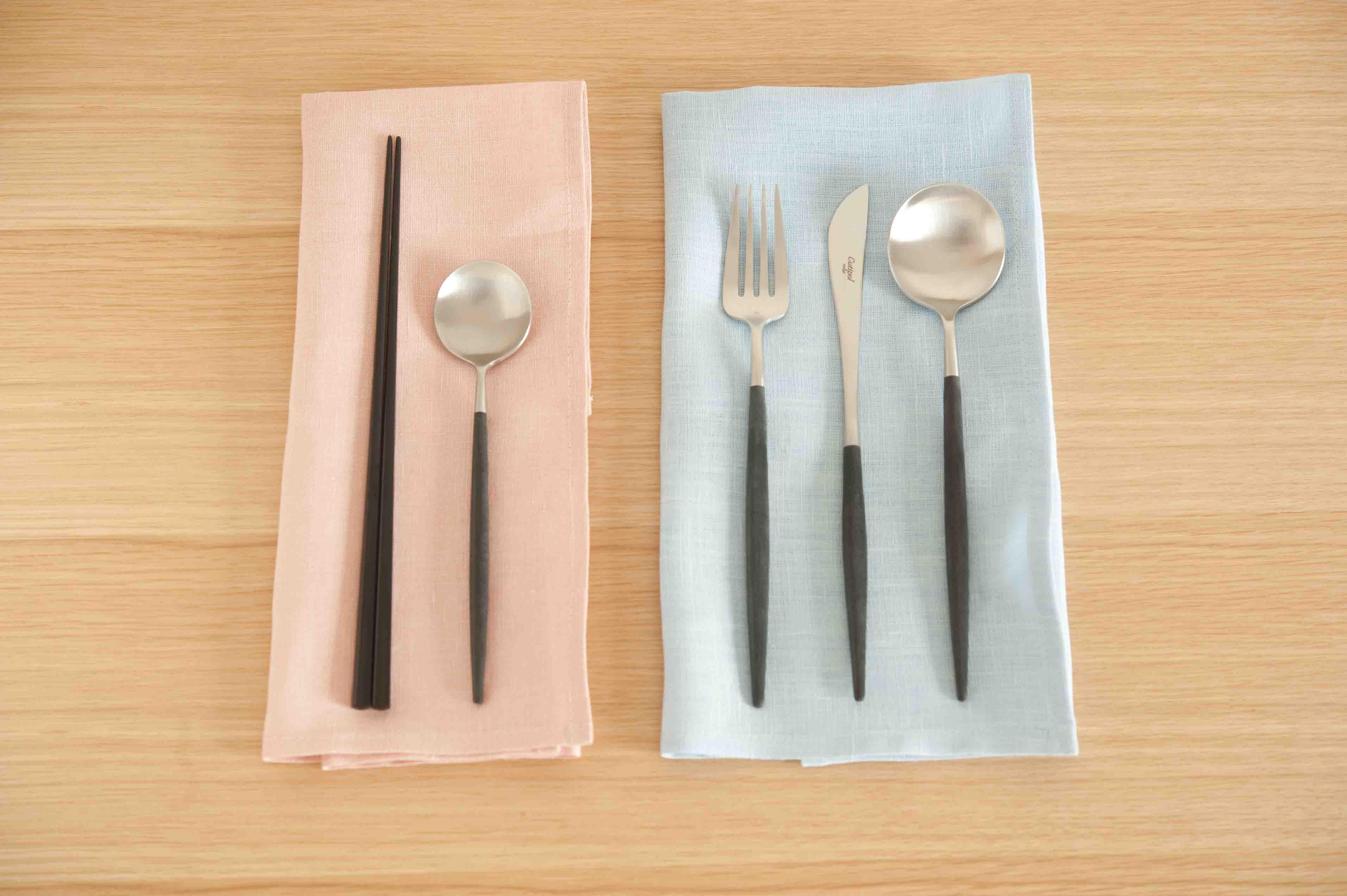 クチポールのカトラリー/ブラック デザートスプーン 暮しの手帖の通販