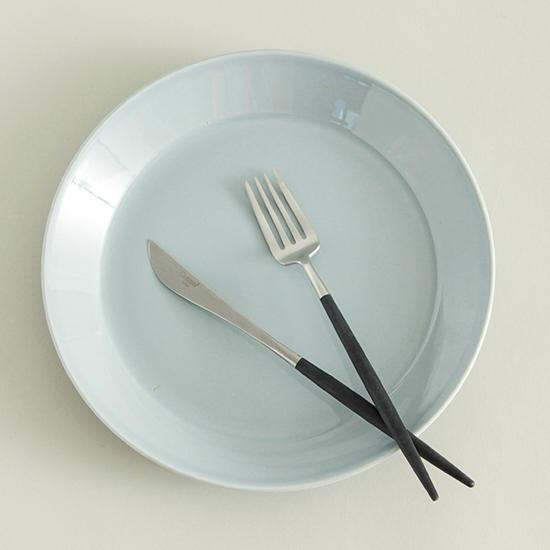 クチポールのカトラリー/ブラック デザートフォーク