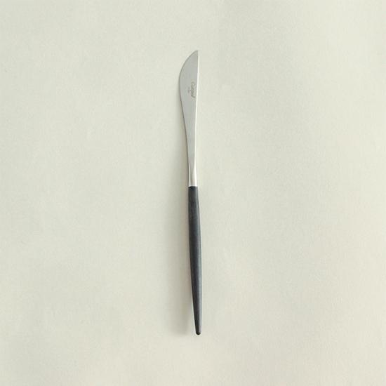 クチポールのカトラリー/ブラック デザートナイフ