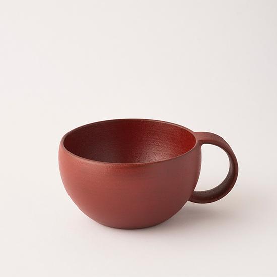 漆のマグカップ 小赤
