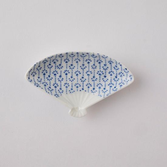印判豆皿 扇