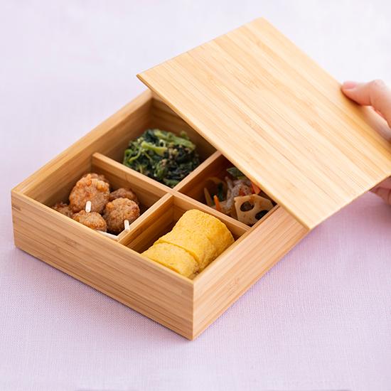 竹の重箱 二段重 5寸角