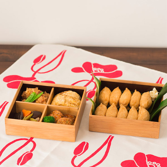 竹の重箱 二段重 6.5寸角