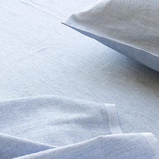 保多織和布団用シーツ シングル(インディゴ)