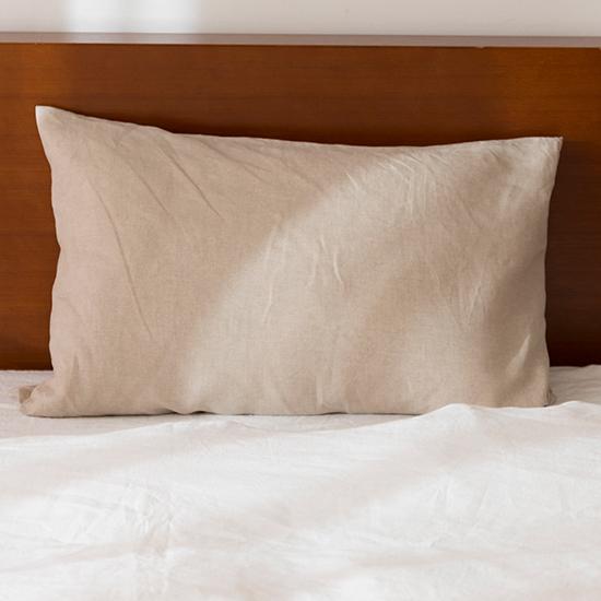リネン枕カバー 封筒式 生成