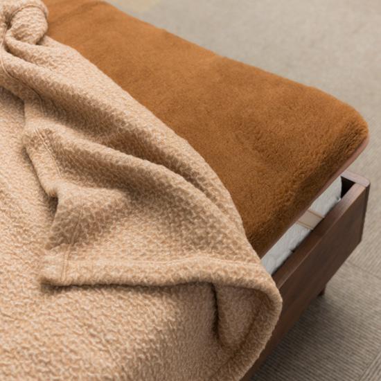 キャメルハイパイル敷き毛布