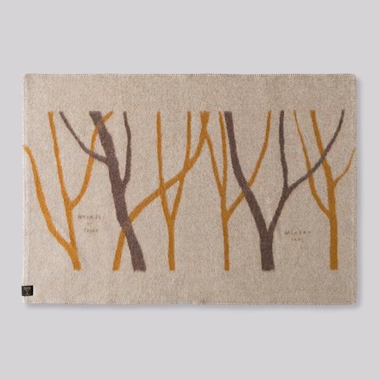花森安治のブランケット ハーフサイズ 木々