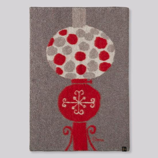 花森安治のブランケット ハーフサイズ ランプ 赤