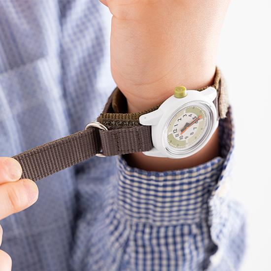 ふんぷんくろっく 腕時計 こども用 グリーン